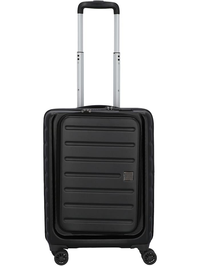 D&N Travel Line 2100 4-Rollen Kabinentrolley 55 cm, schwarz