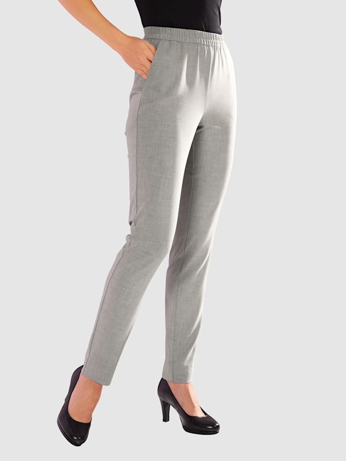 Paola Trousers with elasticated waistband, Anthracite