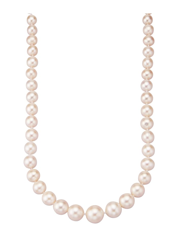 Diemer Perle Collier avec perles de culture d'eau douce, Blanc