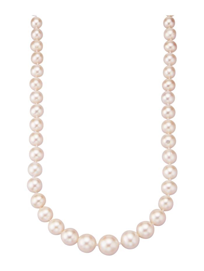 Diemer Perle Collier mit Süßwasser-Zuchtperlen, Weiß