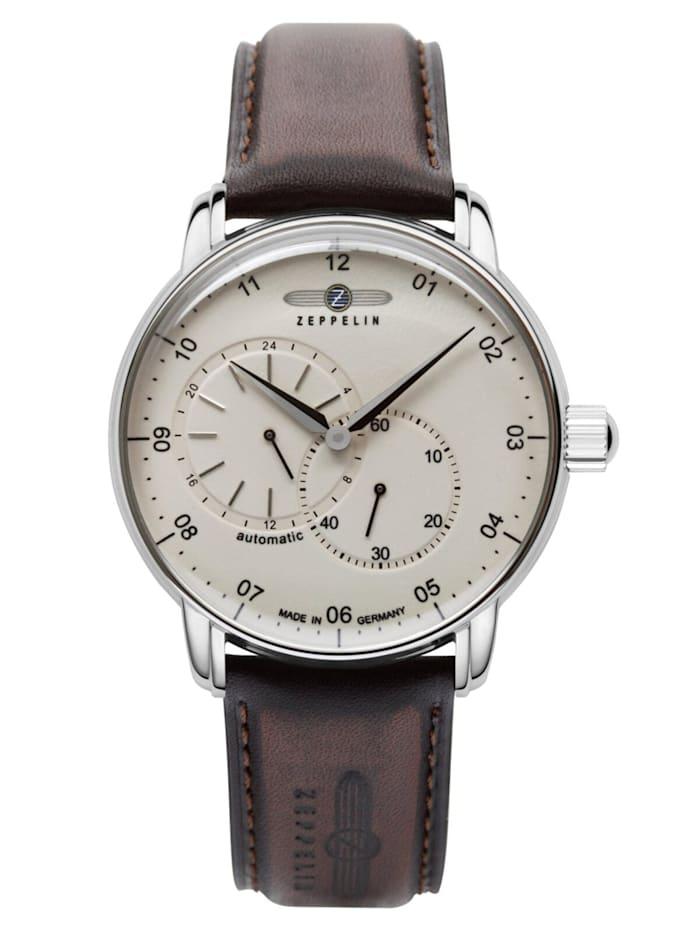 Zeppelin Herren-Armbanduhr Automatik New Captain's Line, Creme-Weiß