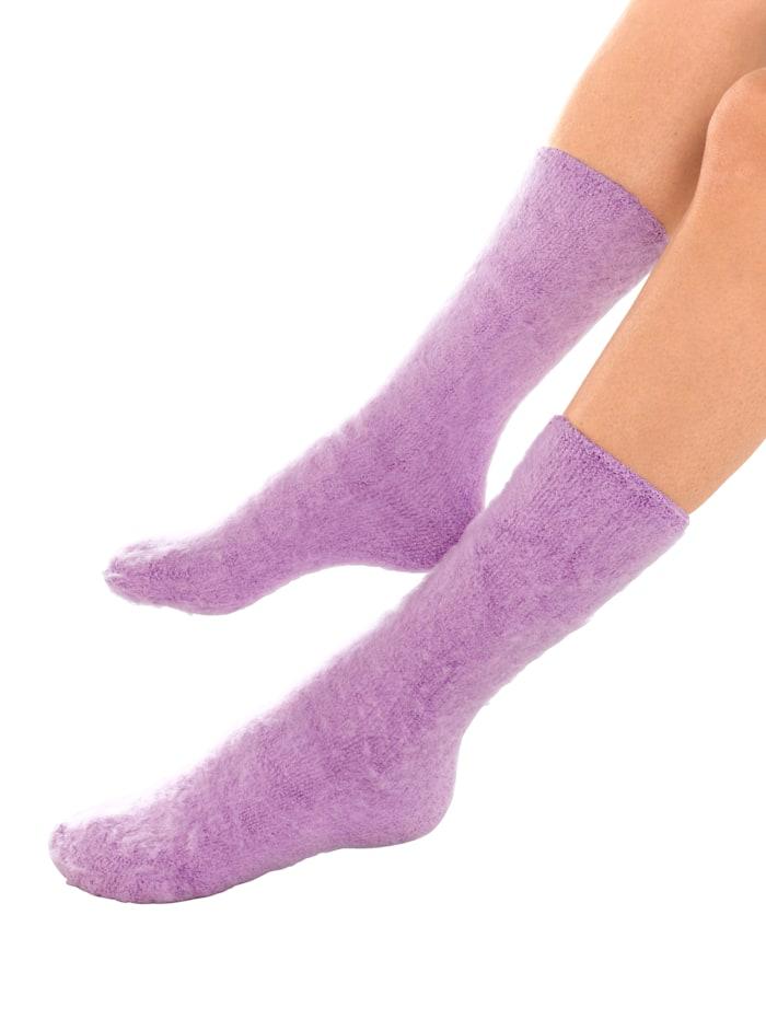 MedoVital Lot de 3 paires de chaussettes de lit, Rose