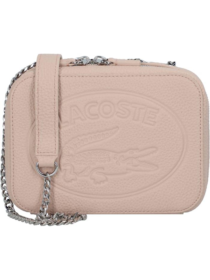 LACOSTE Croco Crew Umhängetasche Leder 18 cm, rose dust