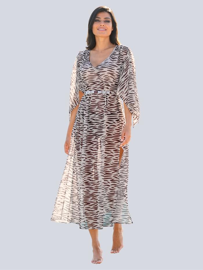 Opera Strandkleid mit Perlenverzierung, Beige