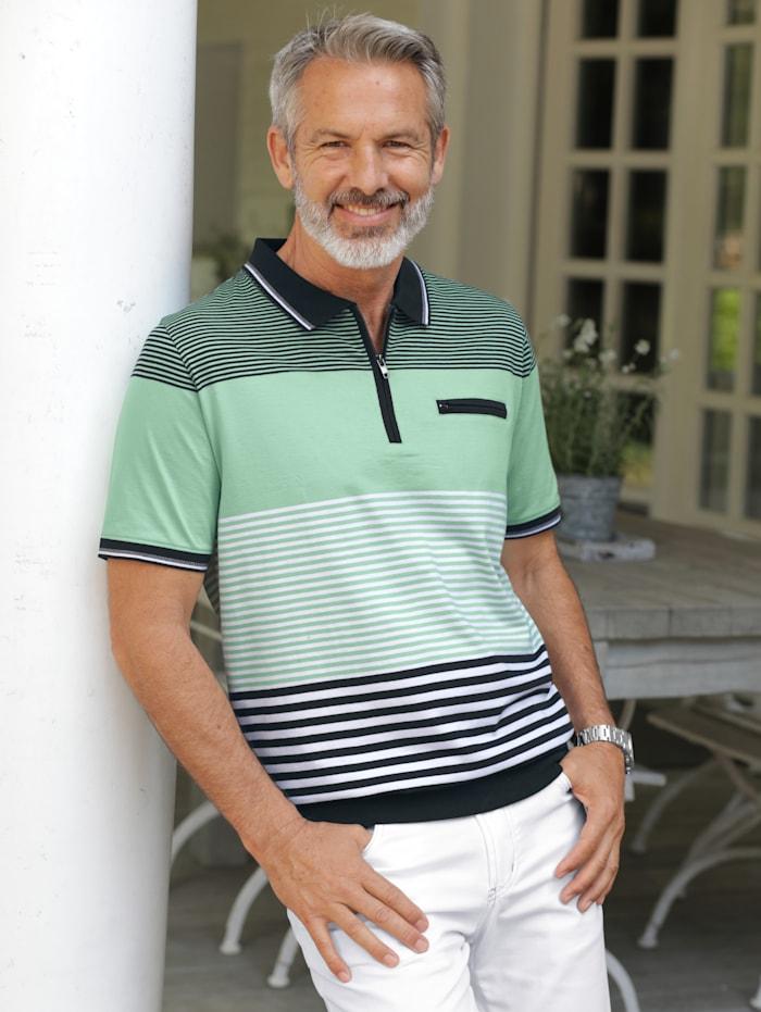 BABISTA Poloshirt met rits, Lindegroen