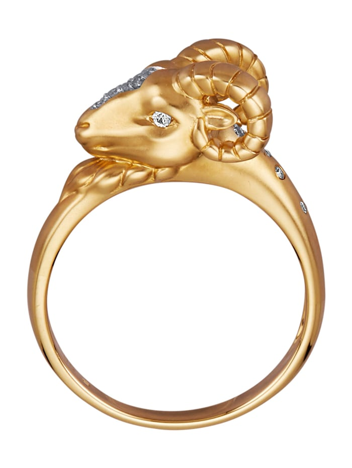 Widder-Ring mit Diamanten