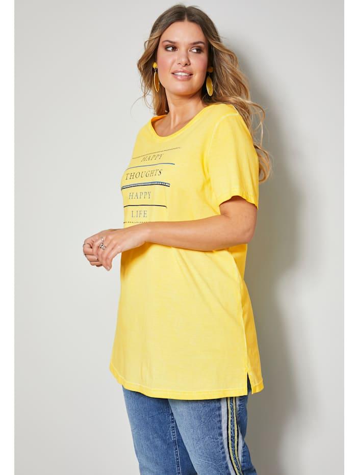 Janet & Joyce Shirt aus reiner Baumwolle, Gelb