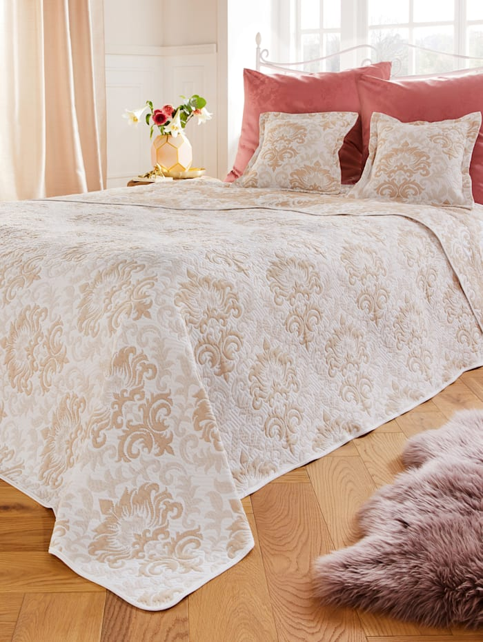 Webschatz Prikrývka na posteľ Penelope, ecru