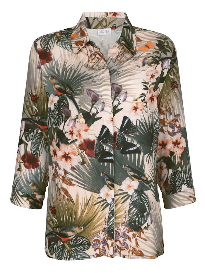 Bluse mit Duschungeldruck