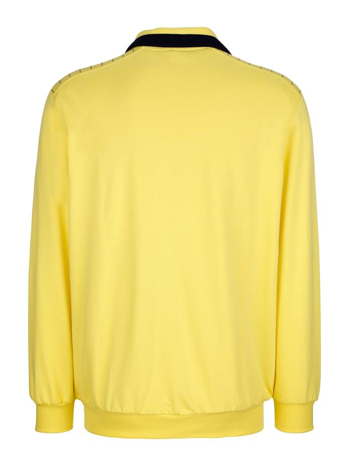Sweatshirt mit Kontraststickerei