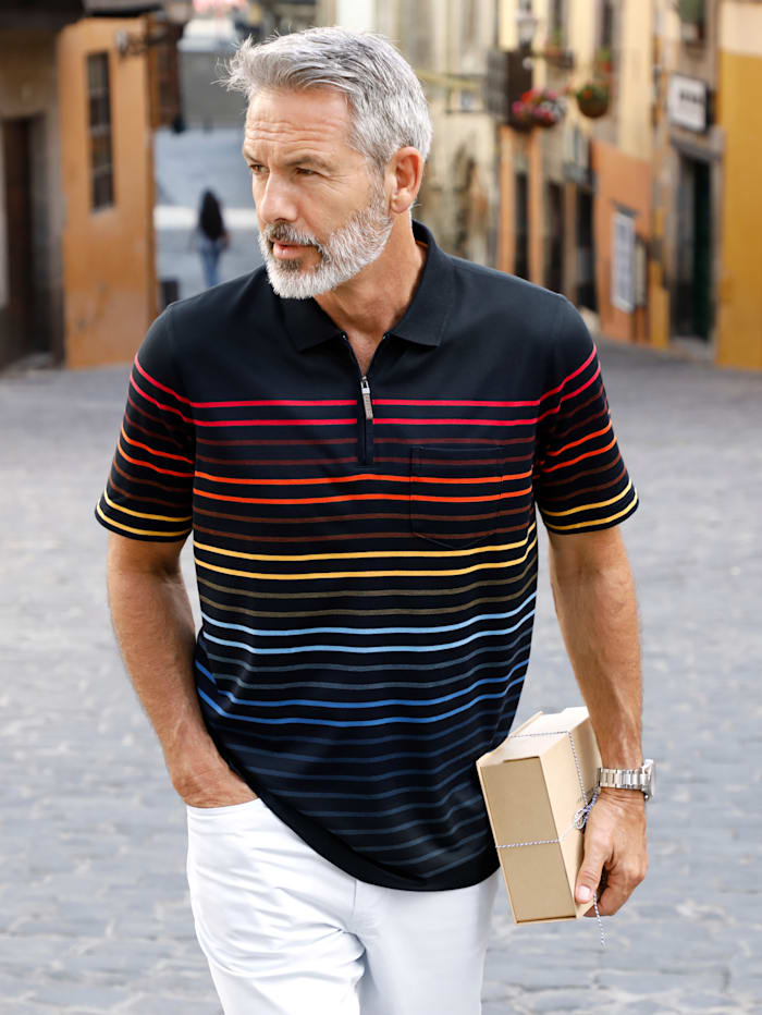 BABISTA Poloshirt mit garngefärbten Streifen, Marineblau/Multicolor