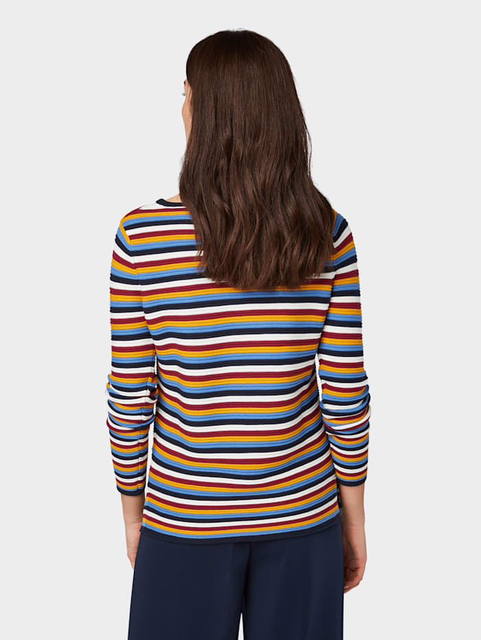 Gestreifter Strick-Sweater
