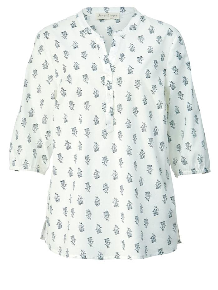 Tunika-Bluse aus reiner Baumwolle