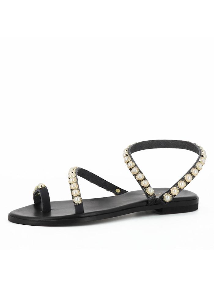EVITA Damen Sandale OLIMPIA, schwarz