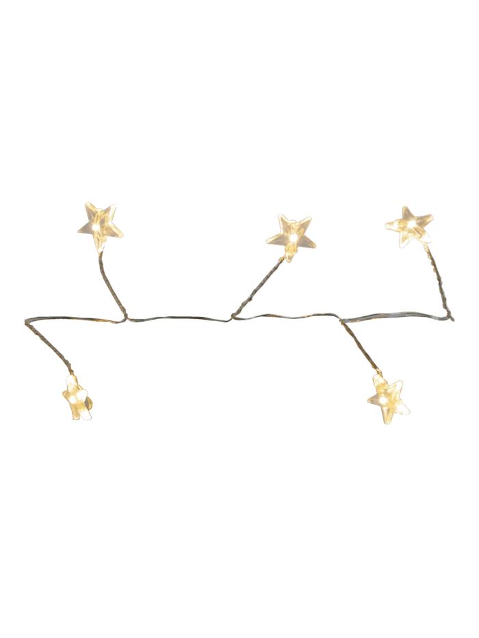 Star LED-Lichterkette, Sterne, weiß