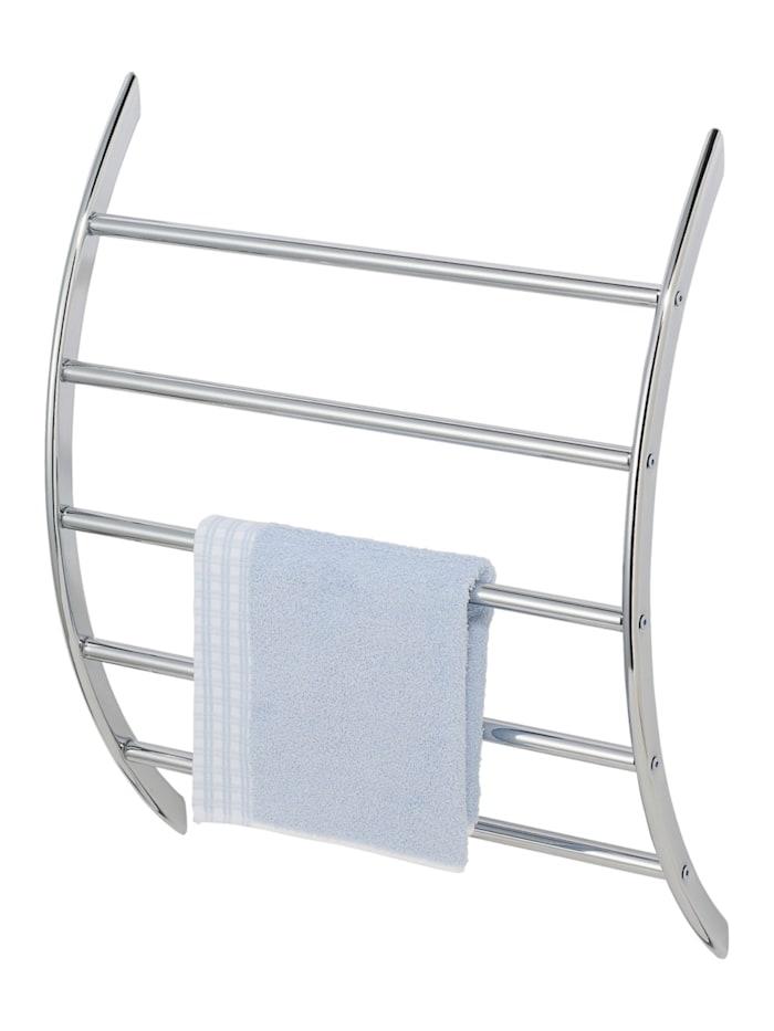 Wenko Exclusiv Wand-Handtuchhalter mit 5 Stangen, Handtuchstange, Chrom