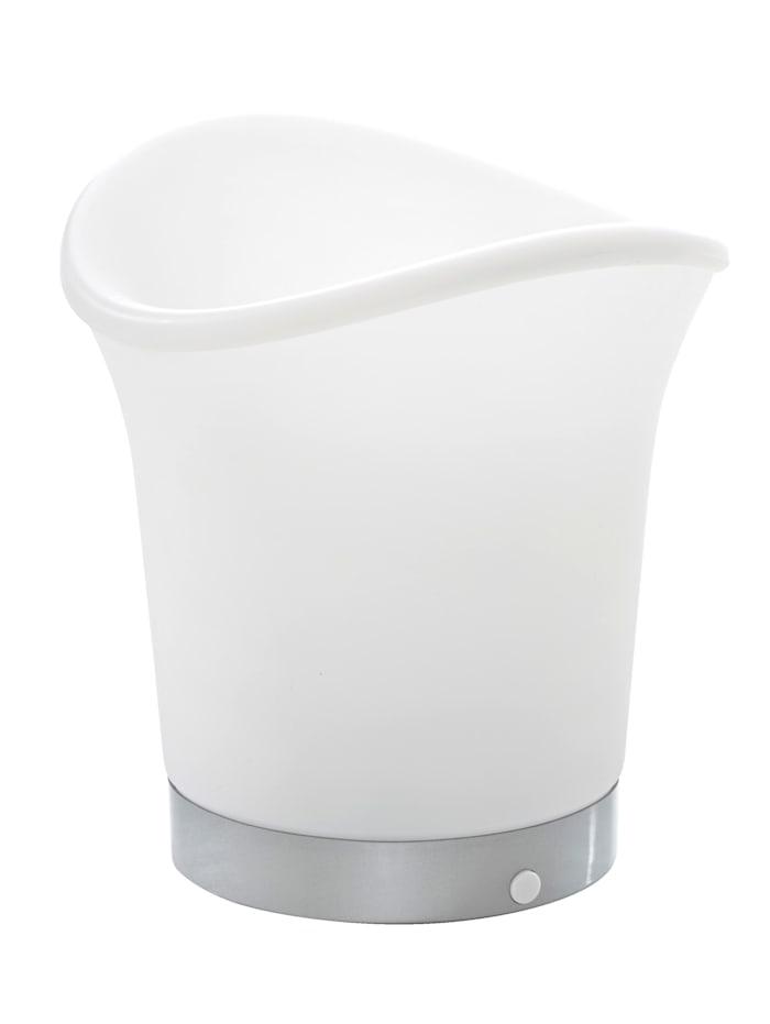 MyHome LED-juomajäähdytin, valkoinen, eriväriset LED-valot