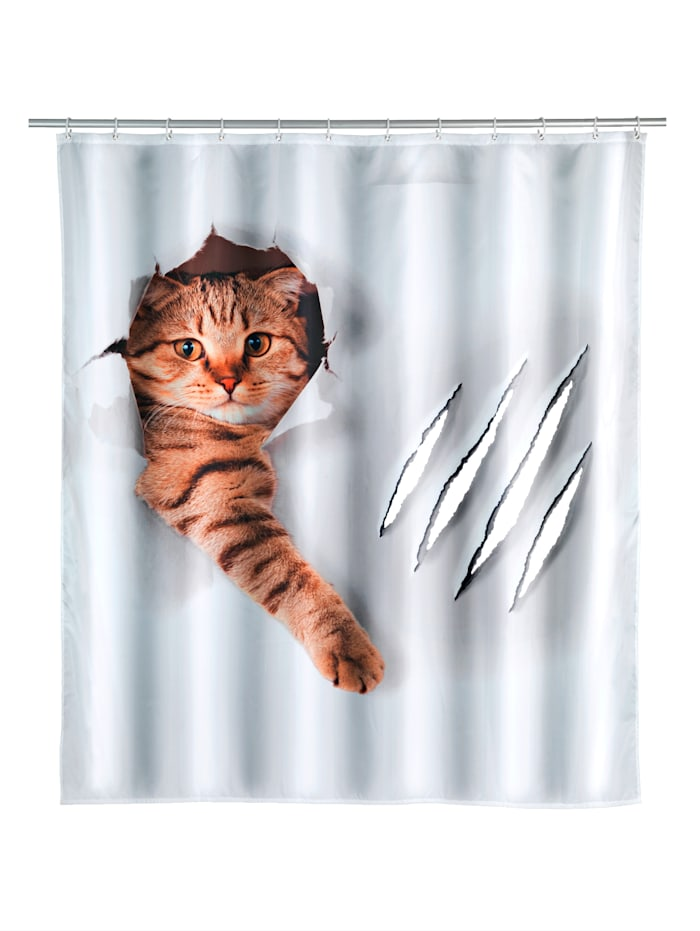 Wenko Duschvorhang 'Cute Cat', Multicolor