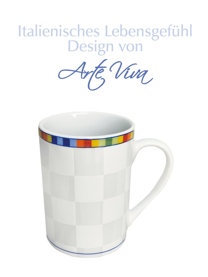 Arte Viva Lot de 6 tasses à café 'Venezia', Multicolore
