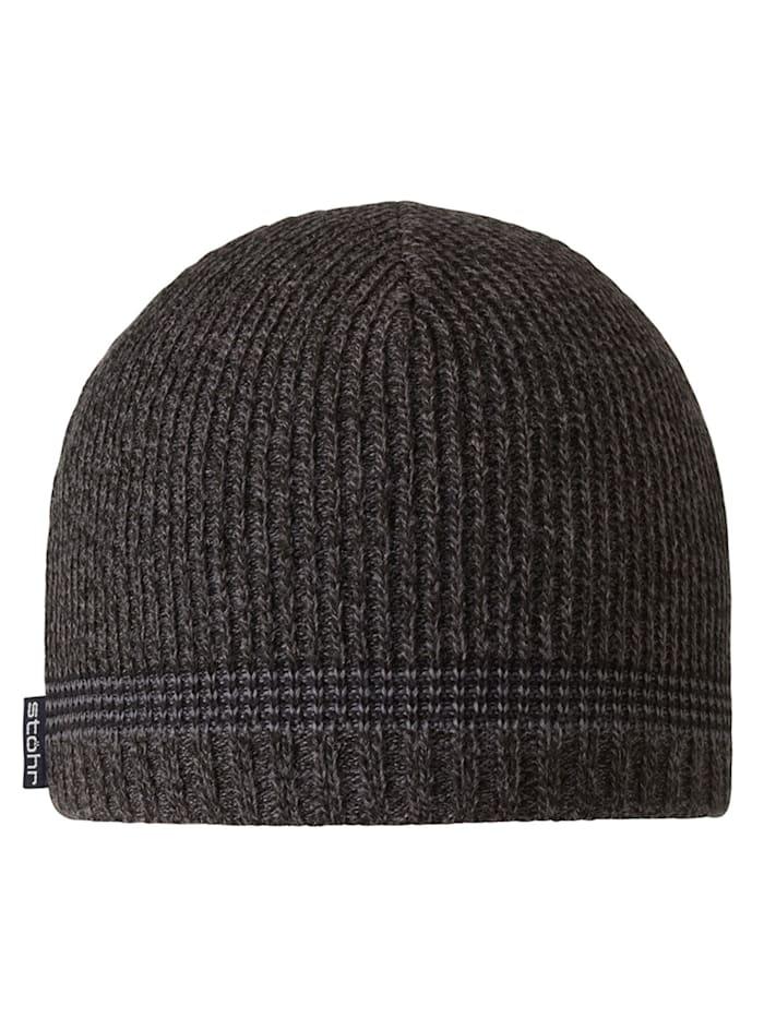 Stöhr OSSI - Mütze mit WINDSTOPPER(R) Material im Stirnbereich, kuschelig warm, schwarz-anthrazit