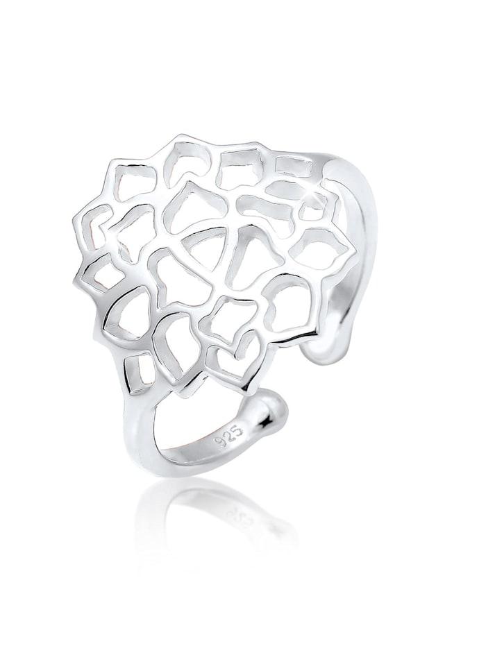 Elli Ring Lotusblume Ornament 925 Sterling Silber, Silber