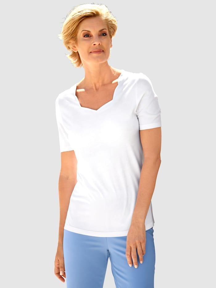Dress In Shirt mit schönem Ausschnitt, Weiß