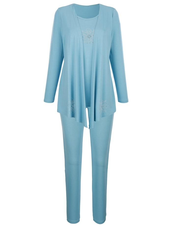 Harmony Joggingpak met shirt in jasjeslook, Jadegroen