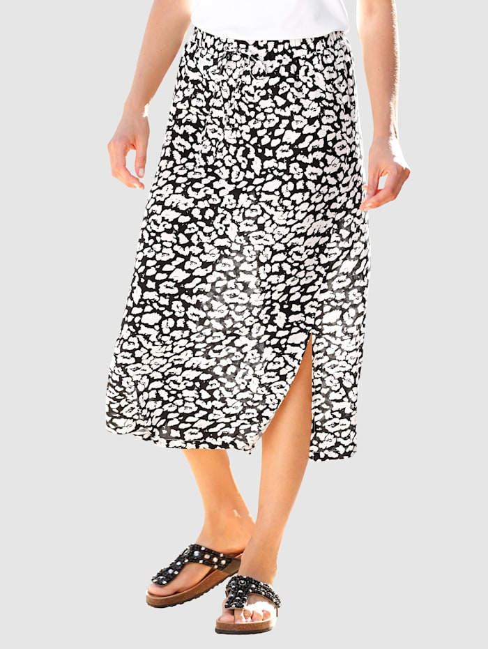 Dress In Skirt Eye-catching print, Black/White
