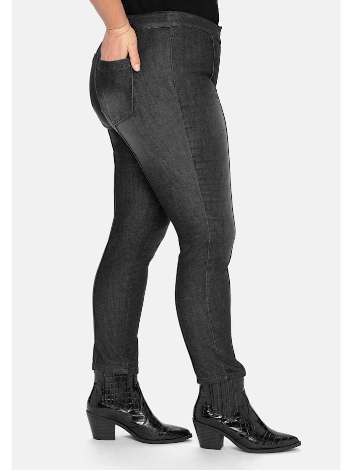 Jeans »die Schmale«, mit streckenden Biesen
