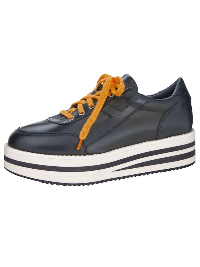 Sneaker met modieuze plateauzool, Marine