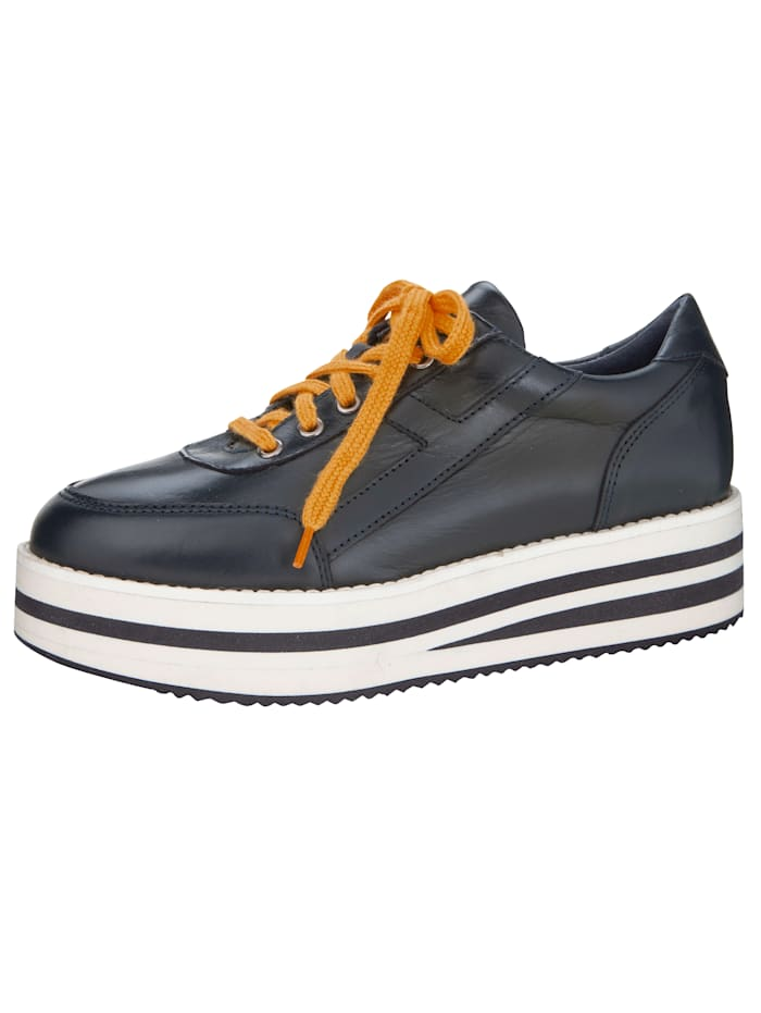 Sneakers à plateau avec semelle de marche à plateau tendance, Marine