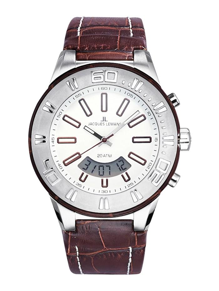 Jacques Lemans Horloge 1-1772D, Bruin