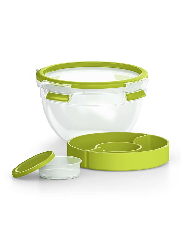 Salatbox mit Einsätzen Clip   Go
