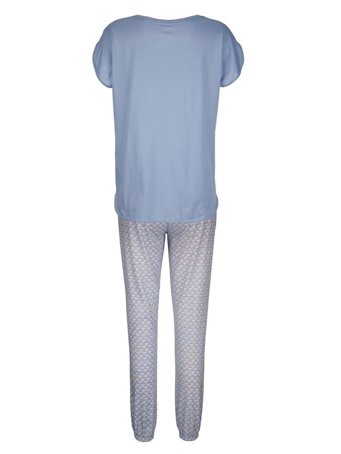 Schlafanzug mit niedlicher Brusttasche