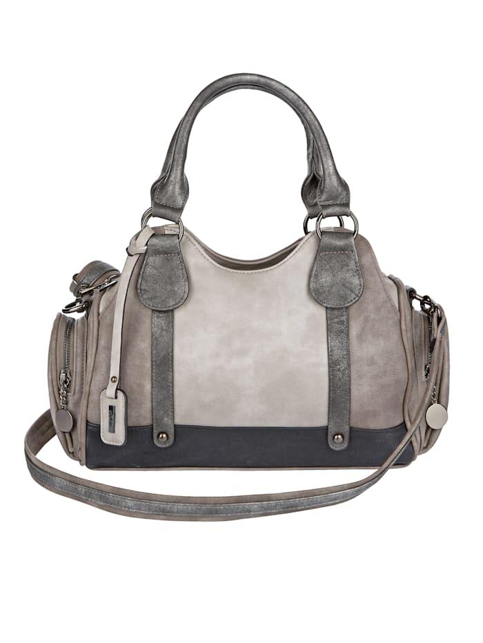 Rieker Handtasche mit großzügiger Fächereinteilung, grau-kombi