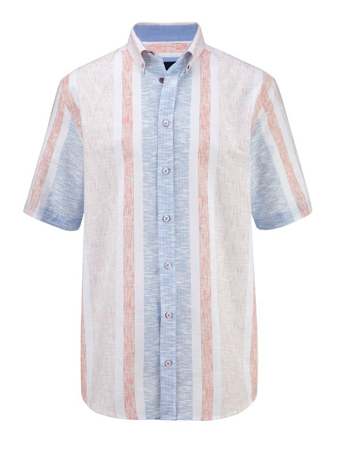 BABISTA Overhemd met modieus streeppatroon, Wit/Oranje/Blauw