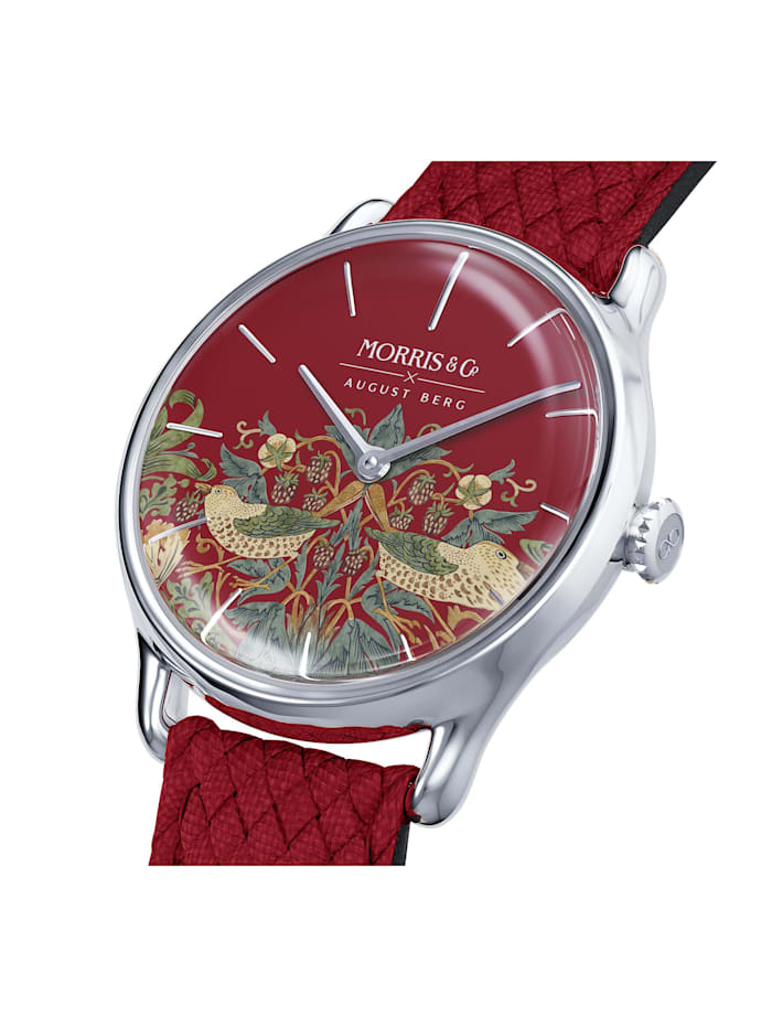 Uhr MORRIS & CO Silver Red Perlon 30mm