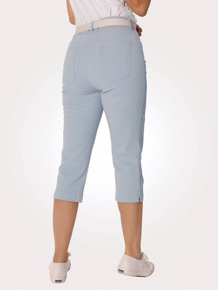 Capri trousers with embroidery