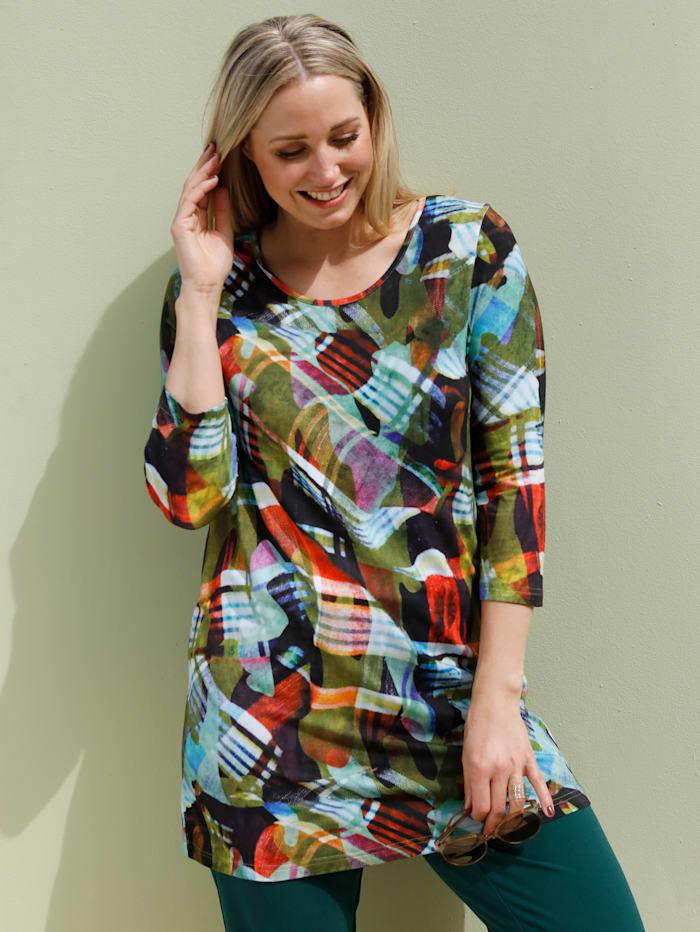 MIAMODA Longshirt in weich fließender Qualität, Multicolor