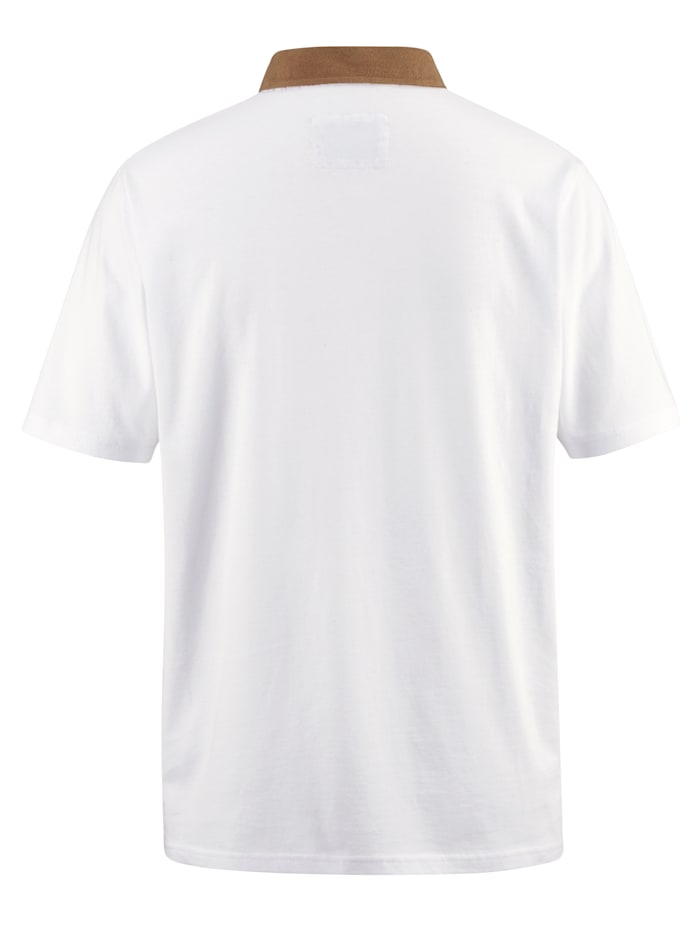 Poloshirt met gedessineerde details en paspels