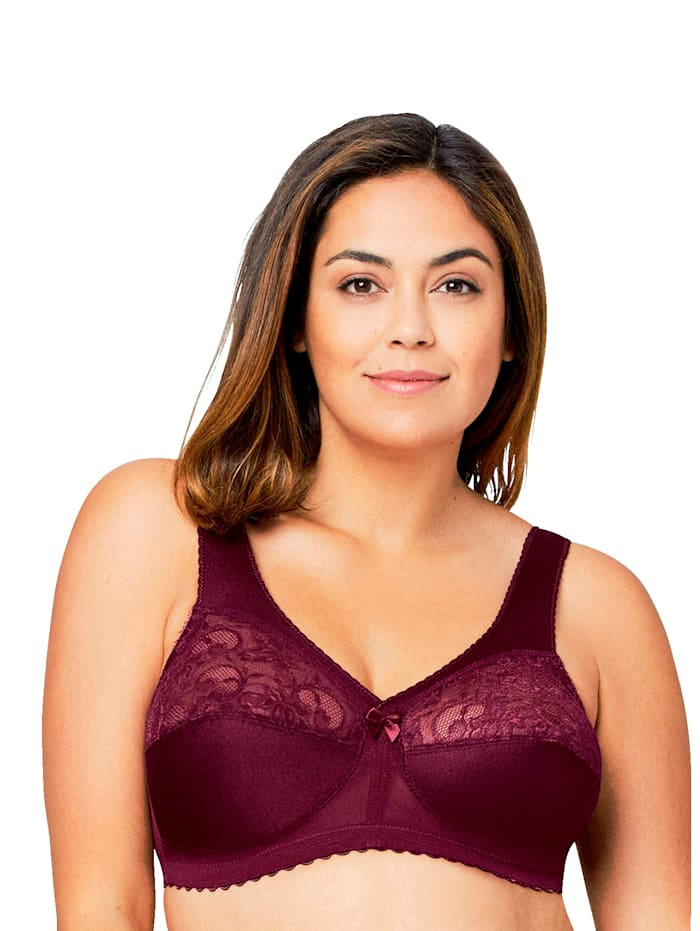 Glamorise Magic lift Bra with support function, Bordeaux