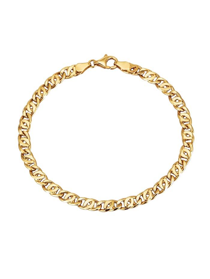 Diemer Gold Tigeraugearmband in Gelbgold 585, Gelbgoldfarben