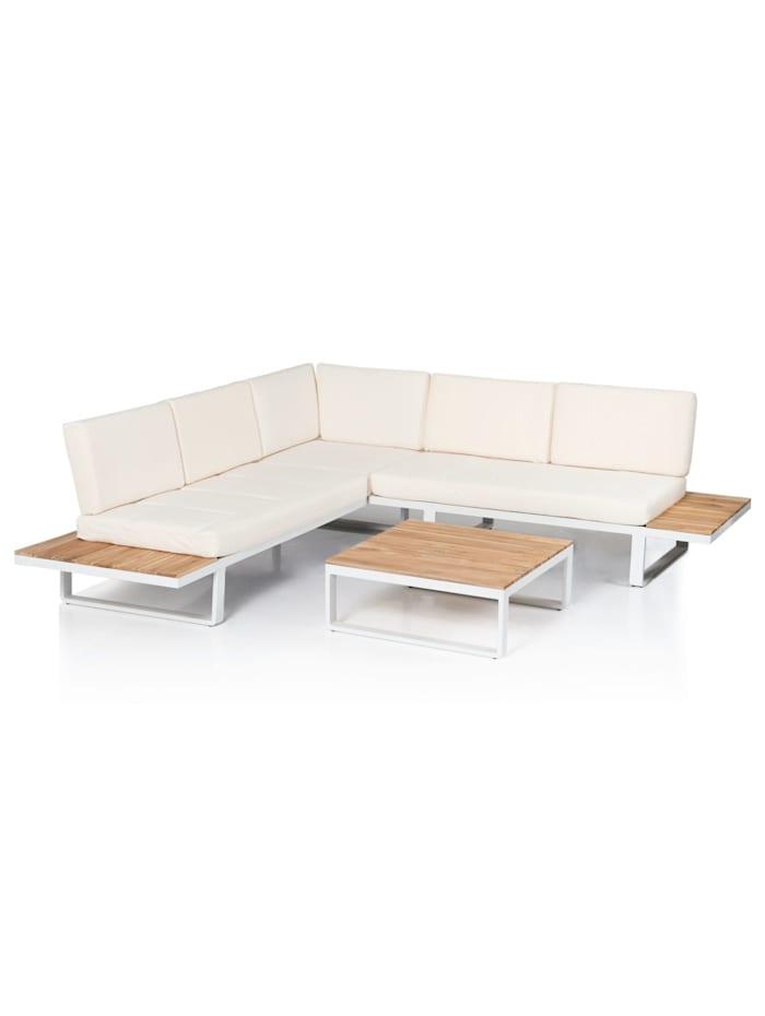 IMPRESSIONEN living Outdoor-Lounge-Set, 2-tlg., weiß/natur