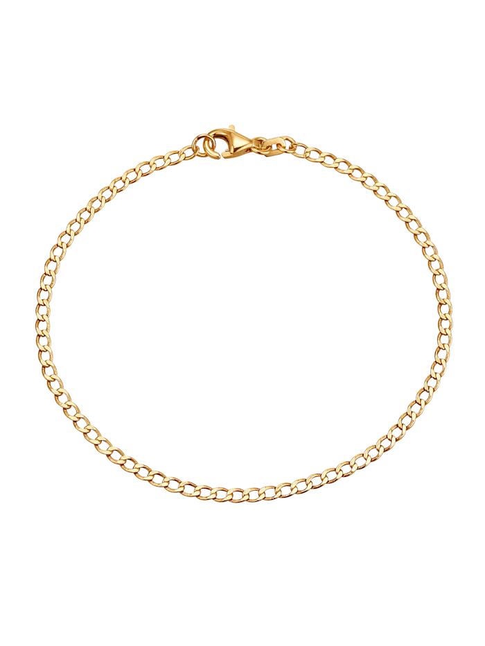 Armband, pansarlänk, Guldfärgad