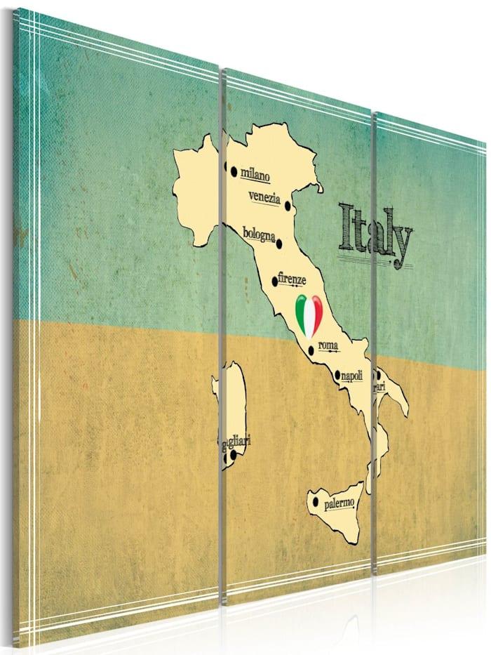 artgeist Wandbild Das Herz Italiens - Triptychon, Creme,Türkis,Beige