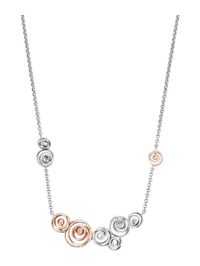 Diemer Silber Collier van echt zilver, Zilverkleur/Roze