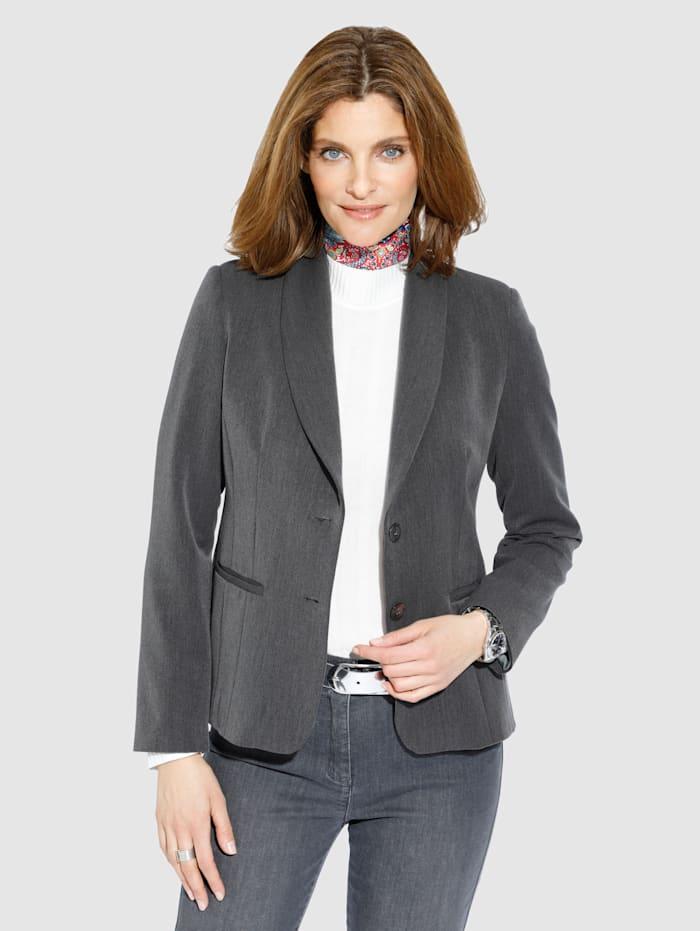 MONA Blazer in elastischer Qualität, Grau