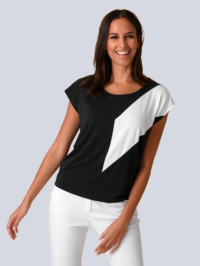 Shirt met contrastinzet