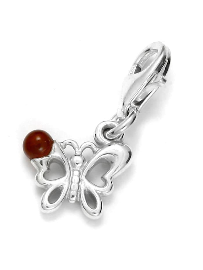 OSTSEE-SCHMUCK Charm-Einhänger - Schmetterling - Silber 925/000 - Bernstein, silber