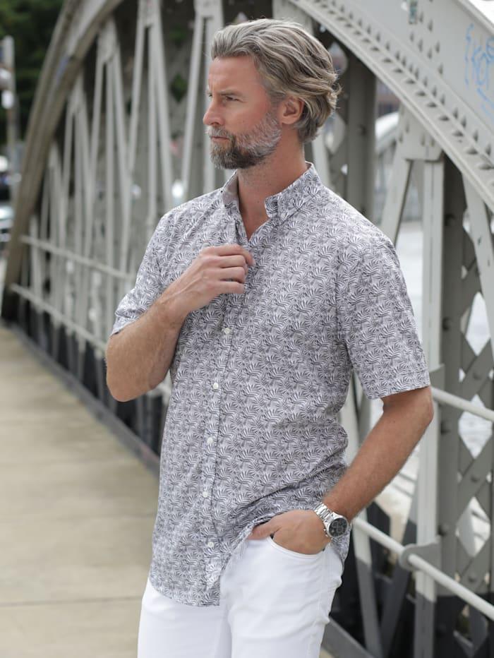 BABISTA Overhemd met borstzak, Wit/Grijs